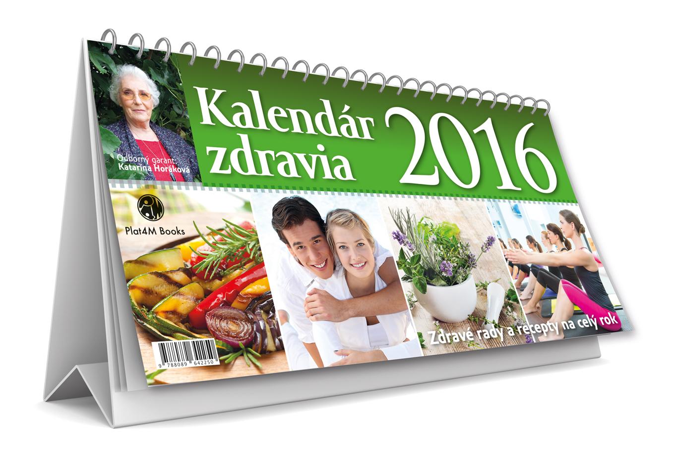 Kalendár zdravia 2016, Plat4M Books, 2015