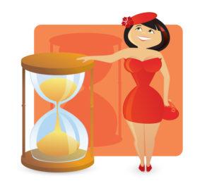 tvar presýpacie hodiny žena figure type woman